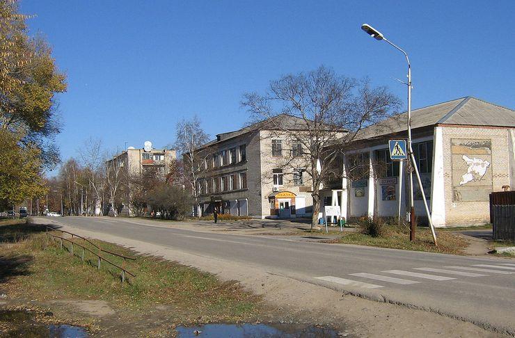Улица Лазо в поселке Раздольное